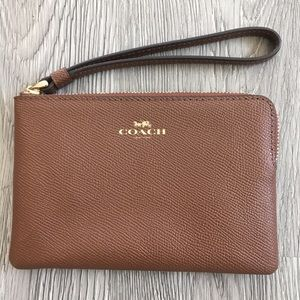 Coach Tan/Brown Wristlet or Wallet